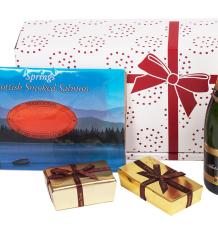 Champagne, Smoked Salmon, Chocolates & Truffles Gift Box