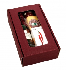 Cheddar Cheese & Wine Gift Box