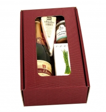Brie Cheese & Wine Gift Box