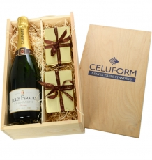 Champagne, Chocolates & Truffles Crate