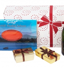 Prosecco, Smoked Salmon, Chocolates & Truffles Gift Box