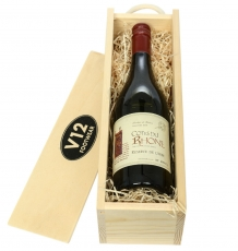Wine in a Wooden Crate - Cotes du Rhone
