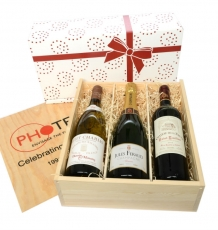 Three-Bottle Wine Crate