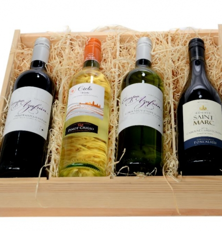 10.4a. Four-Bottle Wine Crate – WS-1C
