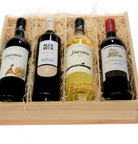 10.4d. Four-Bottle Wine Crate – WS-16C