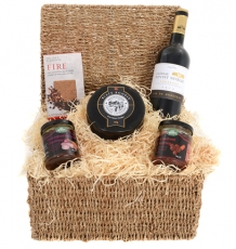 "The ""Gourmet Claret & Cheddar"" Hamper"